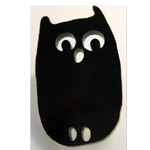 small black owl brooch