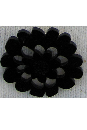 Large flower brooch black