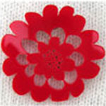 bog flower brooch red