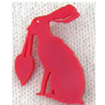 small hare heart brooch