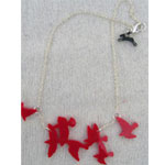 red flock chain necklace