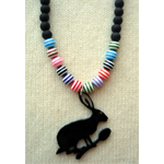 small stripe hare spoon necklace