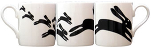 large mug black rabbits