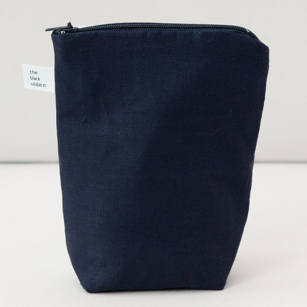 handmade printed fox zip purse