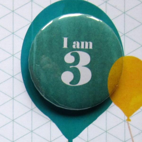 third birthday badge card