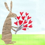 rabbit bouquet congratulations card