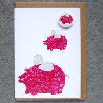 flying pigs birthday card