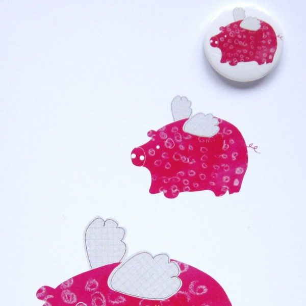 flying pigs badge card