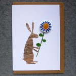 rabbit badge greetings card