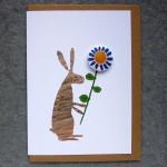 rabbit badge greetings card