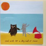 owl at sea dancing card