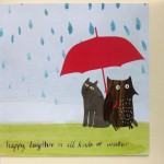 owl and pussycat greetings card happy together