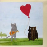 owl and pusscat greetings card