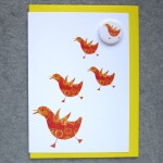 chicks birthday badge card
