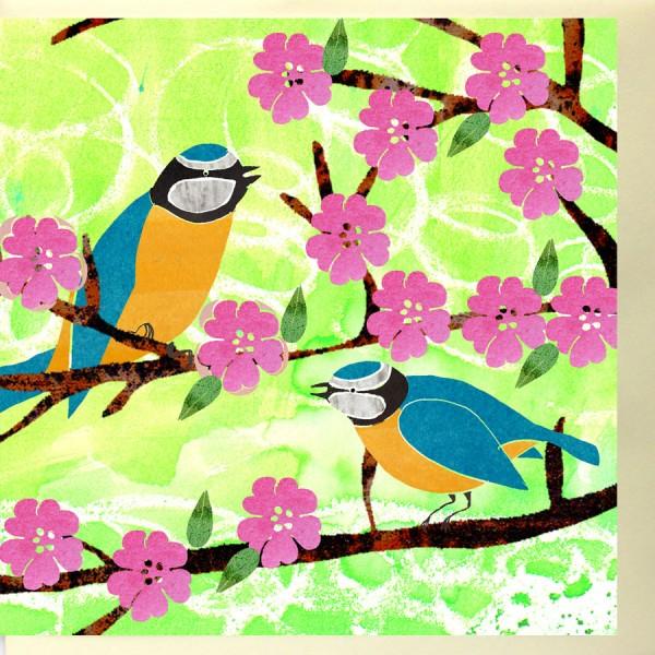 handmade birds annivesary card
