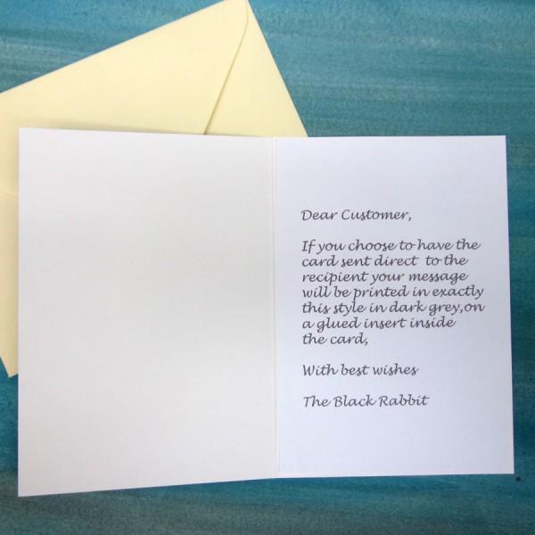The Black Rabbit Age 3 Birthday Badge Card Handmade Cards Gifts