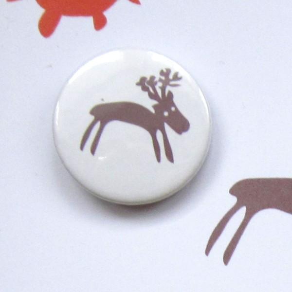 handmade reindeer christmas badge greetings card