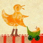 duck new baby card by the black rabbit