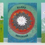 badge happy birthday greetings card by the black rabbit