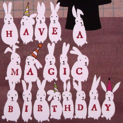 Magic Birthday Badge Card