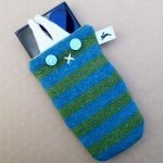 handmade knitted phone cover by the black rabbit