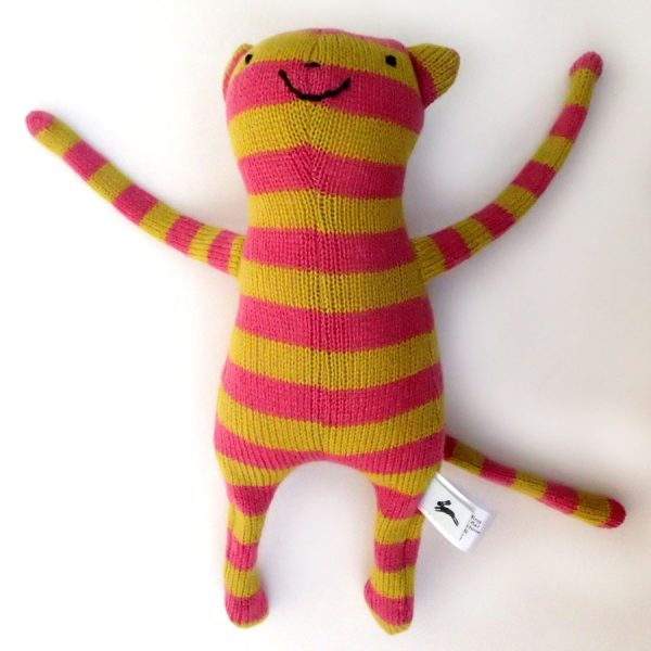 Knitted wool monkey handmade toy