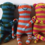 knitted wool monkey new baby toy by the black rabbit