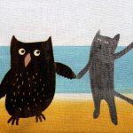 handmade zip wash bag owl pussycat the black rabbit