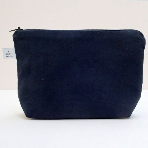 hooray wash bag handmade the black rabbit
