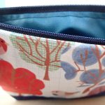 pattern forest zip wash bag illustrated by the black rabbit