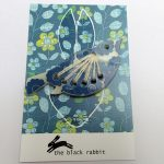 floral bird perspex lazer cut brooch by the black rabbit