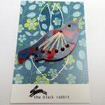 bird brooch red handmade by the black rabbit