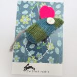 handmade knitted mouse brooch by The Black Rabbit
