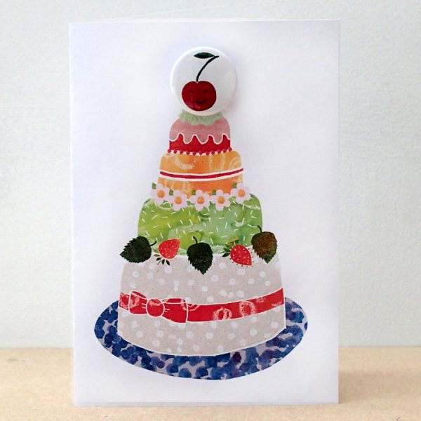 cherry cake badge card by the black rabbit