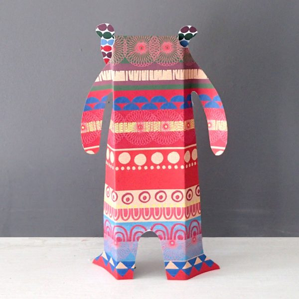 paper sculpture bear uk made by the black rabbit