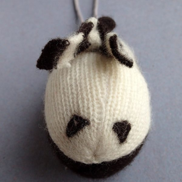 handmade knitted penguin christmas decoration by the black rabbit