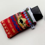 handmade pattern bear glasses case by the black rabbit