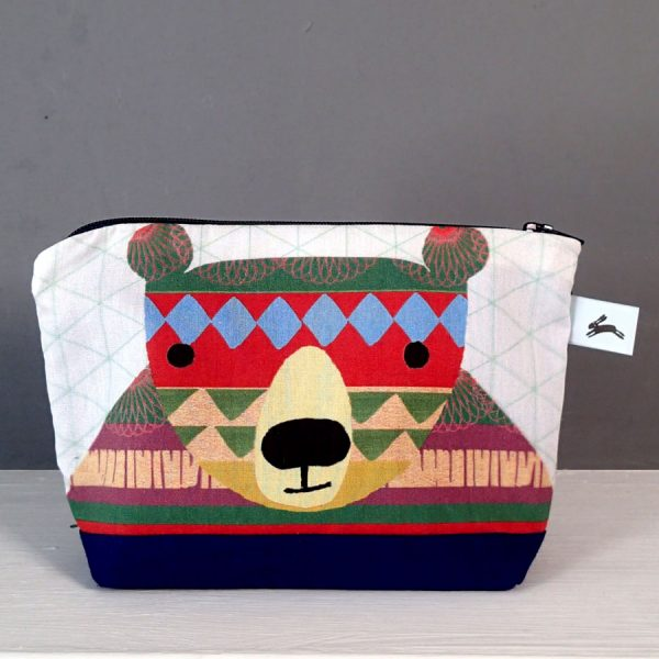 pattern bear zip wash bag cosmetic purse printed by the black rabbit