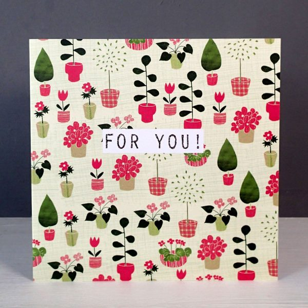 house plants for you greetings card by the black rabbit