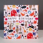 animals greetings card for children by the black rabbit