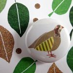 partridge in a pear tree badge card by the black rabbit