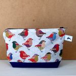 TRifle robin cosmetic zip purse by the black rabbit