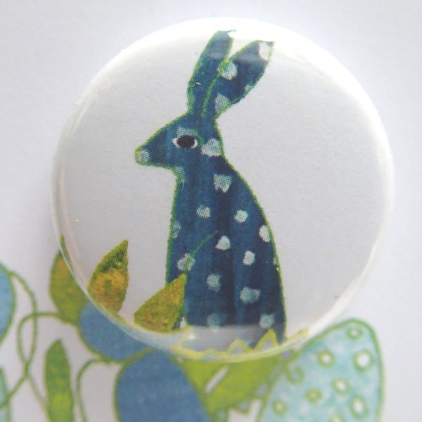easter badge card by the black rabbit