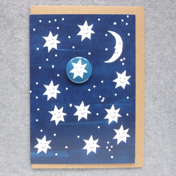 greetings card with stars
