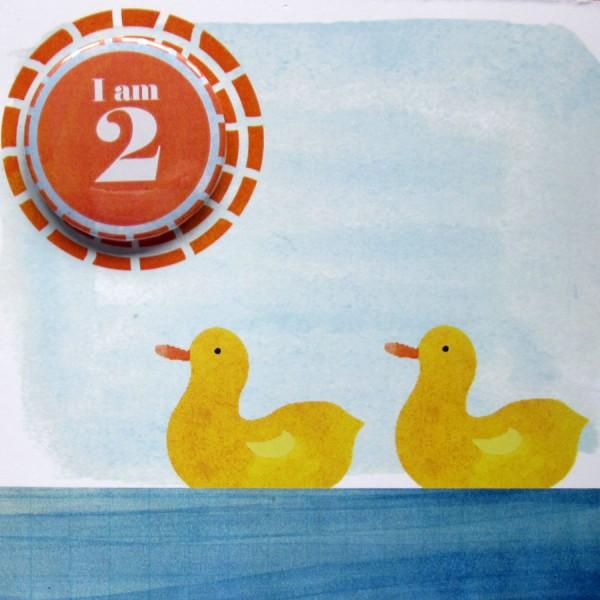 second birthday badge card