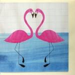 flamingo greetings anniversary card