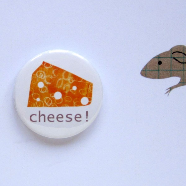 cheese greetings badge card handmade birthday