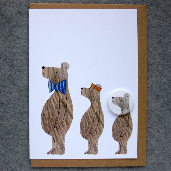 Three bears badge card