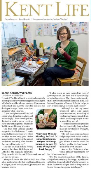 The Black Rabbit Kent Life magazine handmade