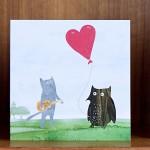 heart balloon card